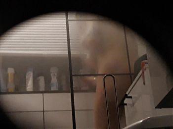 29.01 Slut wife Anette big tits shower voyeur challenge