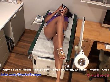 Lotus Lains' New Student Gyno Exam By Doctor From Tampa On Spy Cam