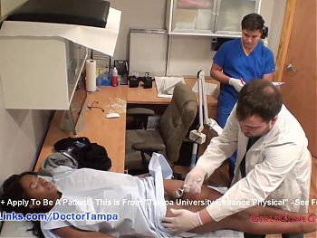 Misty Rockwell's Student Gyno Exam By Doctor From Tampa On Spy Cam