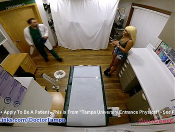 Alexandria Jane's Gyno Exam From Doctor From Tampa On Hidden Camera