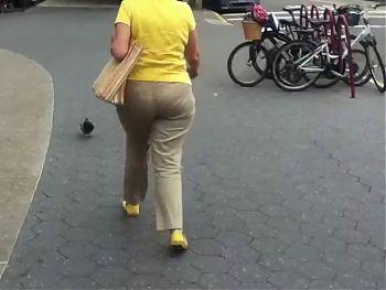 Yellow beige candid