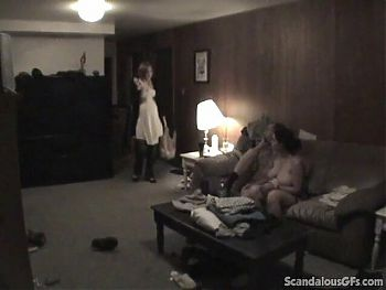 Cheated husband fucked pregnant brunette housemaid