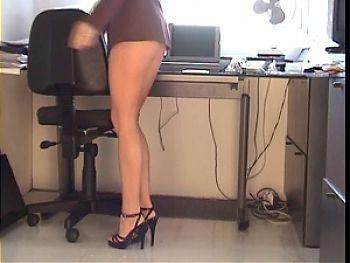 Office angel Upskirt