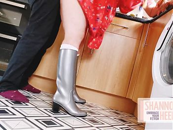 Girl in Wellingtons gets fucked doggystyle – Shannon Heels