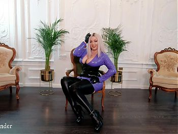 Backstage video from photosession, PVC vinyl dress stockings