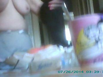 Tits close up hiddencam