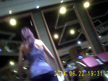 Gym Girl in Black Tight Spandex