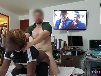 maid gets her enormous black breast grope