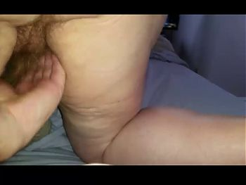 wifes sexy hairy asshole & hairy pussy on her knees