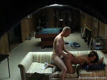 Sexy Girlfriend Found Cheating And Fucking At The Basement