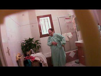 Hidden cam - Grannie 82 y.o. caught in bathroom